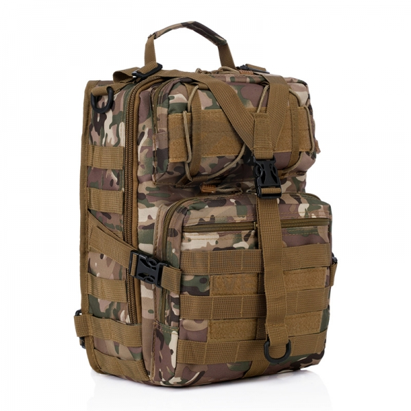 Рюкзак на одной лямке Military Tactical Travel Hiking Riding Bike Cross Body Multicam/CP