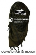 Арафатка Tactical Shemagh OD/Black (Dagger)