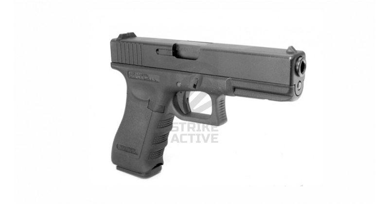 Пистолет пневм KP-17-MS GLOCK G17 GBB GAS Metal Slide Black (KJW)