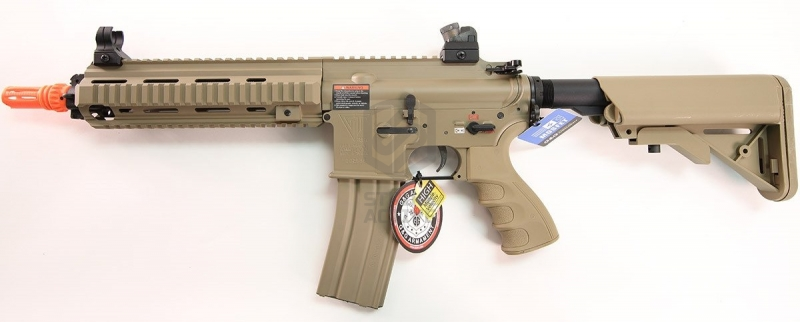 Автомат HK416 Light Desert no blowback T4-18 TGR-418-SHT-DBB-NCM (130-140m/s) (G&G)