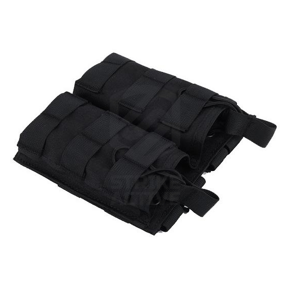 Подсумок Tactical MOLLE Double Open Top Mag Pouch M4/M16 Black