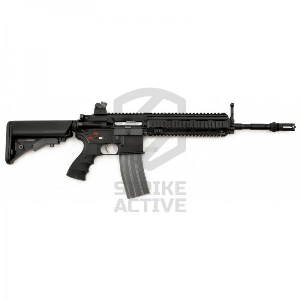 Автомат HK416 Long (T4-18) Blow Back 120-130m/s BLACK (G&G)