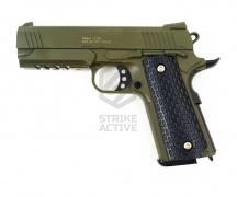 Пистолет пневм G25G Colt 1911 PD Rail  SPRING  (Galaxy)